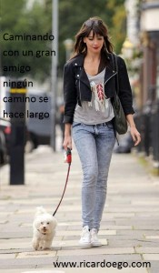 daisy-lowe-enjoys-walking-dog